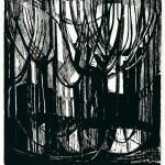ΔΕΝΤΡΑ ΣΤΟ ΠΑΡΙΣΙ Ξυλογραφία, 40 x 37 εκ., 1963