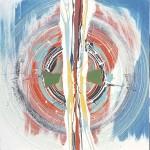 ΚΕΡΑΥΝΟΣ ΤΟΥ ΔΙΑ Μικτή τεχνική σε μουσαμά, 150 x 150 εκ., 1967