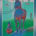 ΔΟΥΡΕΙΟΣ ΙΠΠΟΣ Ακρυλικό σε μουσαμά, 160 x 120 εκ., 1990