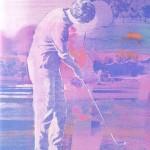 ΗΛΙΟΒΑΣΙΛΕΜΑ Λεπτομέρεια, Μικτή τεχνική σε μουσαμά, 92 x 130 εκ., 1972
