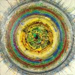 ΚΥΚΛΟΣ ΜΕ ΜΙΚΡΗ ΤΑΧΥΤΗΤΑ Μικτή τεχνική σε μουσαμά, 150 x 150 εκ., 1968