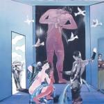 ΠΡΟΕΤΟΙΜΑΣΙΑ ΤΟΥ ΑΘΛΗΤΗ Ακρυλικό σε μουσαμά, 155 x 160 εκ., 1993