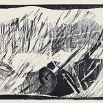 ΧΙΟΝΙΣΜΕΝΟ ΤΟΠΙΟ Ξυλογραφία, 36 x 41 εκ., 1966