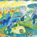 ΜΕΣΣΗΝΙΑΚΟ ΤΟΠΙΟ Λάδι σε μουσαμά, 40 x 73 εκ., 1976