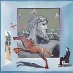 Η ΑΦΙΣΑ ΤΟΥ ΔΙΑ Ακρυλικό σε μουσαμά, 155 x 160 εκ., 1993