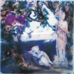 ΚΟΡΗ ΚΑΙ ΛΗΔΑ Μικτή τεχνική σε πλέξιγκλας, 45  x 45 εκ., 2001