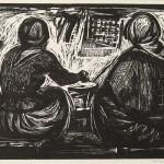 ΣΤΟ ΠΑΡΑΓΩΝΙ  Ξυλογραφία, 39 x 57 εκ., 1959