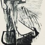 HOMMAGE ΣΤΟ ΓΙΩΡΓΟ Ξυλογραφία, 54 x 40 εκ., 1964