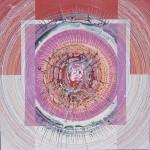 ΤΟ ΚΕΦΑΛΙ ΤΗΣ ΜΕΔΟΥΣΑΣ Μικτή τεχνική σε μουσαμά, 150 x 150 εκ., 1968