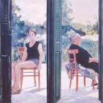ΔΥΟ ΗΛΙΚΙΕΣ Λάδι σε μουσαμά, 150 x 150 εκ., 1983 ΣΥΛΛΟΓΗ ΕΘΝΙΚΗ ΠΙΝΑΚΟΘΗΚΗ