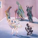 Ο ΘΑΝΑΤΟΣ ΤΟΥ ΠΑΤΡΟΚΛΟΥ Ακρυλικό σε μουσαμά, 150 x 150 εκ., 1984
