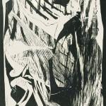 HOMMAGE ΣΤΟ ΓΙΩΡΓΟ Ξυλογραφία, 57 x 45 εκ., 1964