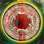 ΚΥΚΛΟΣ ΜΕ ΜΙΚΡΗ ΤΑΧΥΤΗΤΑ Μικτή τεχνική σε μουσαμά, 150 x 150 εκ., 1969