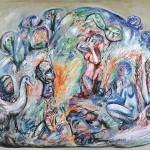 ΣΦΡΑΓΙΔΟΛΙΘΟΣ Λάδι σε μουσαμά, 110 x 150 εκ., 1977