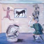 Η ΤΡΟΦΗ ΤΗΣ ΕΞΟΥΣΙΑΣ Ακρυλικό σε μουσαμά, 110 x 146 εκ., 1985