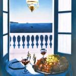 ΠΑΡΑΘΥΡΟ ΜΕ ΘΕΑ Μικτή τεχνική σε πλέξιγκλας, 150 x 110 εκ., 1998
