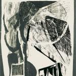 HOMMAGE ΣΤΟ ΓΙΩΡΓΟ Ξυλογραφία 57 x 43 εκ., 1964