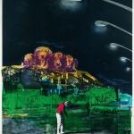 ΘΕΑΤΕΣ ΑΛΛΟΥ ΕΙΔΟΥΣ Μικτή τεχνική σε μουσαμά, 180 x 150 εκ., 1972