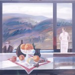 ΦΡΟΥΤΙΕΡΑ ΚΑΙ ΔΥΟ ΓΥΝΑΙΚΕΣ Ακρυλικό σε μουσαμά, 100 x 110 εκ., 1983