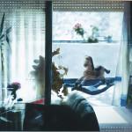 Η ΒΕΡΑΝΤΑ ΜΕ ΤΟ ΑΛΟΓΑΚΙ Μικτή τεχνική σε πλέξιγκλας, 97 x 158 εκ., 2003