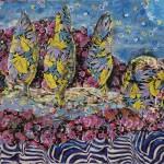 ΤΟΠΙΟ Μικτή τεχνική σε μουσαμά, 100 x 140 εκ., 2004