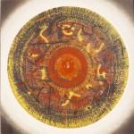 Η ΑΣΠΙΔΑ ΤΟΥ ΑΧΙΛΛΕΑ Μικτή τεχνική σε μουσαμά, 150 x 150 εκ., 1968