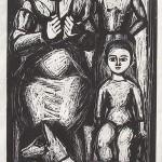 ΑΓΡΟΤΙΚΗ ΟΙΚΟΓΕΝΕΙΑ  Ξυλογραφία, 55 x 29,5 εκ., 1960
