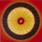 ΠΛΑΝΗΤΙΚΟ Μικτή τεχνική σε μουσαμά, 150 x 150 εκ., 1969