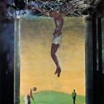 ΙΔΟΥ Ο ΑΝΘΡΩΠΟΣ Μικτή τεχνική σε μουσαμά, 180 x 150 εκ., 1973
