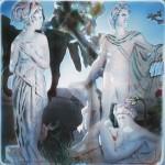 ΑΠΟΛΛΩΝ ΚΟΡΗ ΚΑΙ ΛΗΔΑ Νο1 Μικτή τεχνική σε πλέξιγκλας, 45 x 45 εκ., 2002