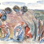 ΜΕΣΣΗΝΙΑΚΟ Μικτή τεχνική σε μουσαμά, 112 x 162 εκ., 1972  ΜΟΥΣΕΙΟ ΒΟΡΕ