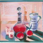 ΚΟΚΚΙΝΟ ΚΡΑΣΙ Έγχρωμη λιθογραφία, 48 x 53 εκ., 1980