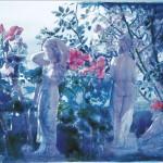 ΚΗΠΟΣ ΜΕ ΑΓΑΛΜΑΤΑ Νο2 Μικτή τεχνική σε πλέξιγκλας, 50 x 78 εκ., 2002