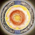 ΚΥΚΛΟΣ ΜΠΛΕ Μικτή τεχνική σε μουσαμά, 150 x 150 εκ., 1968