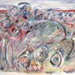 ΤΟΠΙΟ Μικτή τεχνική σε μουσαμά, 112 x 162 εκ., 1979
