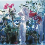 ΤΑΝΑΓΡΑΙΑ ΚΑΙ ΚΟΡΗ Μικτή τεχνική σε πλέξιγκλας, 58 x 93 εκ., 2002
