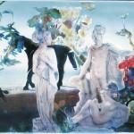 ΑΠΟΛΛΩΝ ΚΟΡΗ ΚΑΙ ΛΗΔΑ Νο2 Μικτή τεχνική σε πλέξιγκλας, 58 x 93 εκ., 2002