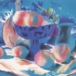 ΦΡΟΥΤΙΕΡΑ ΜΠΛΕ Έγχρωμη λιθογραφία, 47 x 61 εκ., 1981
