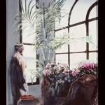 ΕΣΩΤΕΡΙΚΟ Μικτή τεχνική σε πλέξιγκλας, 180 x 140 εκ., 1999