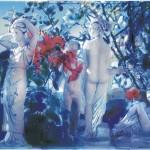 Ο ΚΗΠΟΣ ΜΕ ΤΑ ΑΓΑΛΜΑΤΑ Νο1 Μικτή τεχνική σε πλέξιγκλας, 50 x 78 εκ., 2002