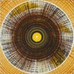 ΗΛΙΑΚΟ 2 Μικτή τεχνική σε μουσαμά, 130 x 130 εκ., 1968