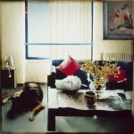 Ο ΑΡΓΟΣ ΦΥΛΑΕΙ Μικτή τεχνική σε πλέξιγκλας, 120 x 120 εκ., 1997