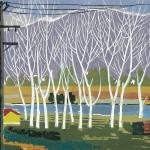 ΛΕΥΚΕΣ ΣΤΗ ΜΕΣΣΗΝΗ  Έγχρωμη ξυλογραφία, 34 x 50 εκ., 1960