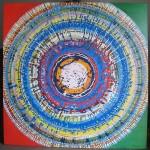 ΚΥΚΛΟΣ ΣΕ ΜΠΛΕ ΚΑΙ ΠΡΑΣΙΝΟ Μικτή τεχνική σε μουσαμά, 150 x 150 εκ., 1969