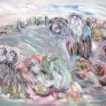 ΤΟΠΙΟ Λάδι σε μουσαμά, 90 x 110 εκ., 1977