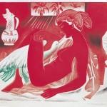 ΛΗΔΑ ΚΑΙ ΚΥΚΝΟΣ Χαλκογραφία - ακουατίντα, 49 x 59,5 εκ., 1986
