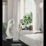 ΛΕΥΚΗ ΚΡΕΒΑΤΟΚΑΜΑΡΑ Μικτή τεχνική σε πλέξιγκλας, 170 x 115 εκ., 1998