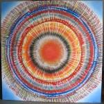 ΗΛΙΑΚΟΣ ΚΥΚΛΟΣ Μικτή τεχνική σε μουσαμά, 150 x 150 εκ., 1969