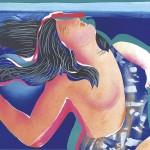ΑΜΑΖΩΝ Έγχρωμη λιθογραφία, 47 x 62 εκ., 1984