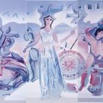 ΣΥΝΘΕΣΗ ΑΠΟ ΤΗΝ ΙΣΤΟΡΙΑ ΤΗΣ ΜΑΚΕΔΟΝΙΑΣ Ζωγραφική σε μουσαμά, 3,80 x 10 μέτρα, 1995
